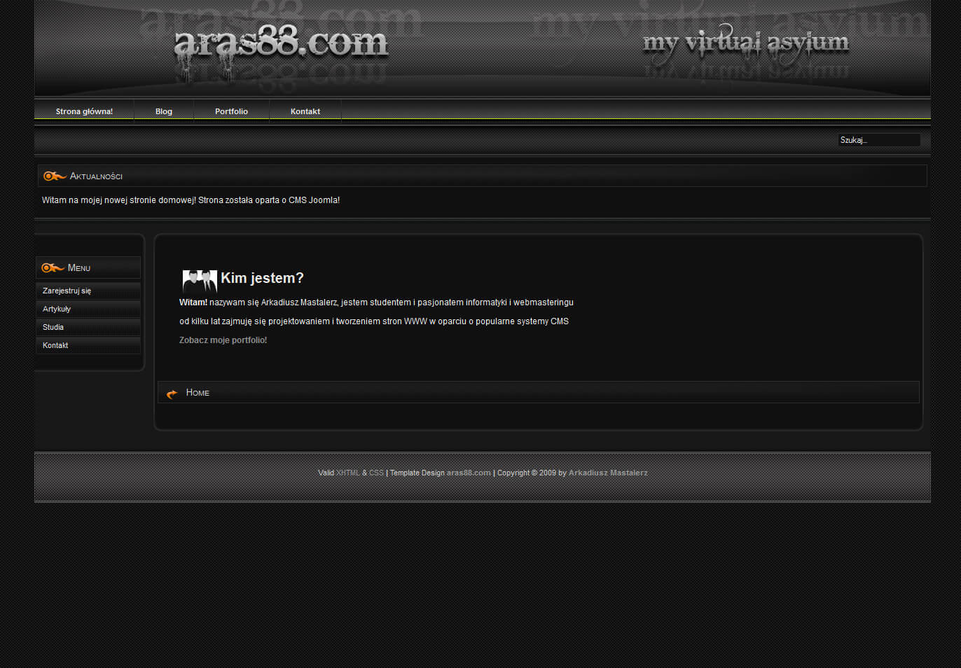 2009-09 My old homepage – aras88.com