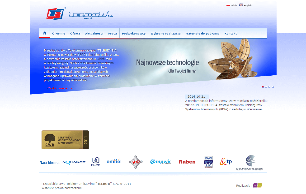 2011-07 Company site – telbud.pl