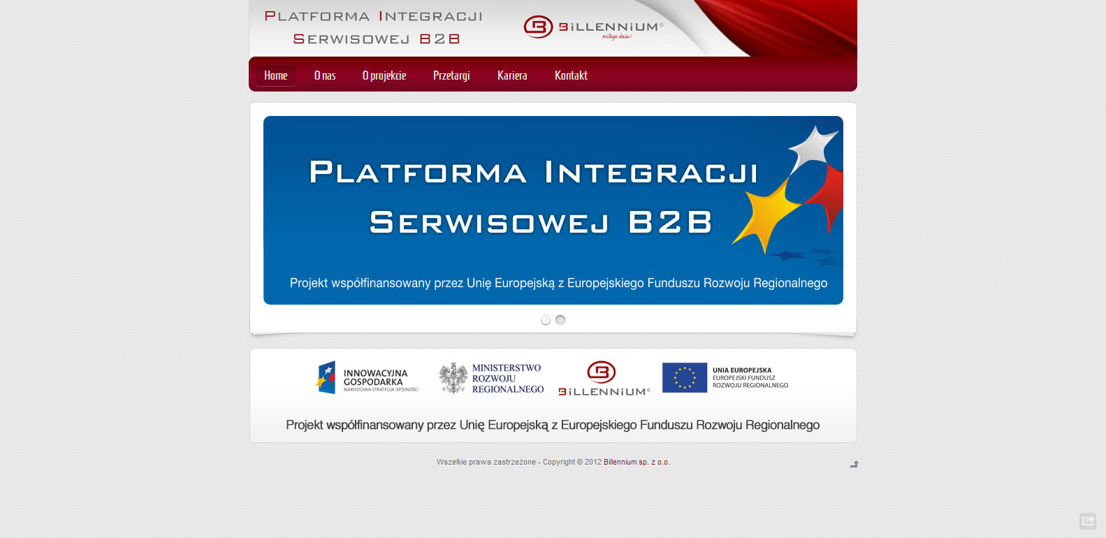 2012-08 Platform of services integration – b2b.billennium.pl
