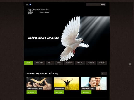 2012-11 – Homepage for the Church – kz-walbrzych.pl