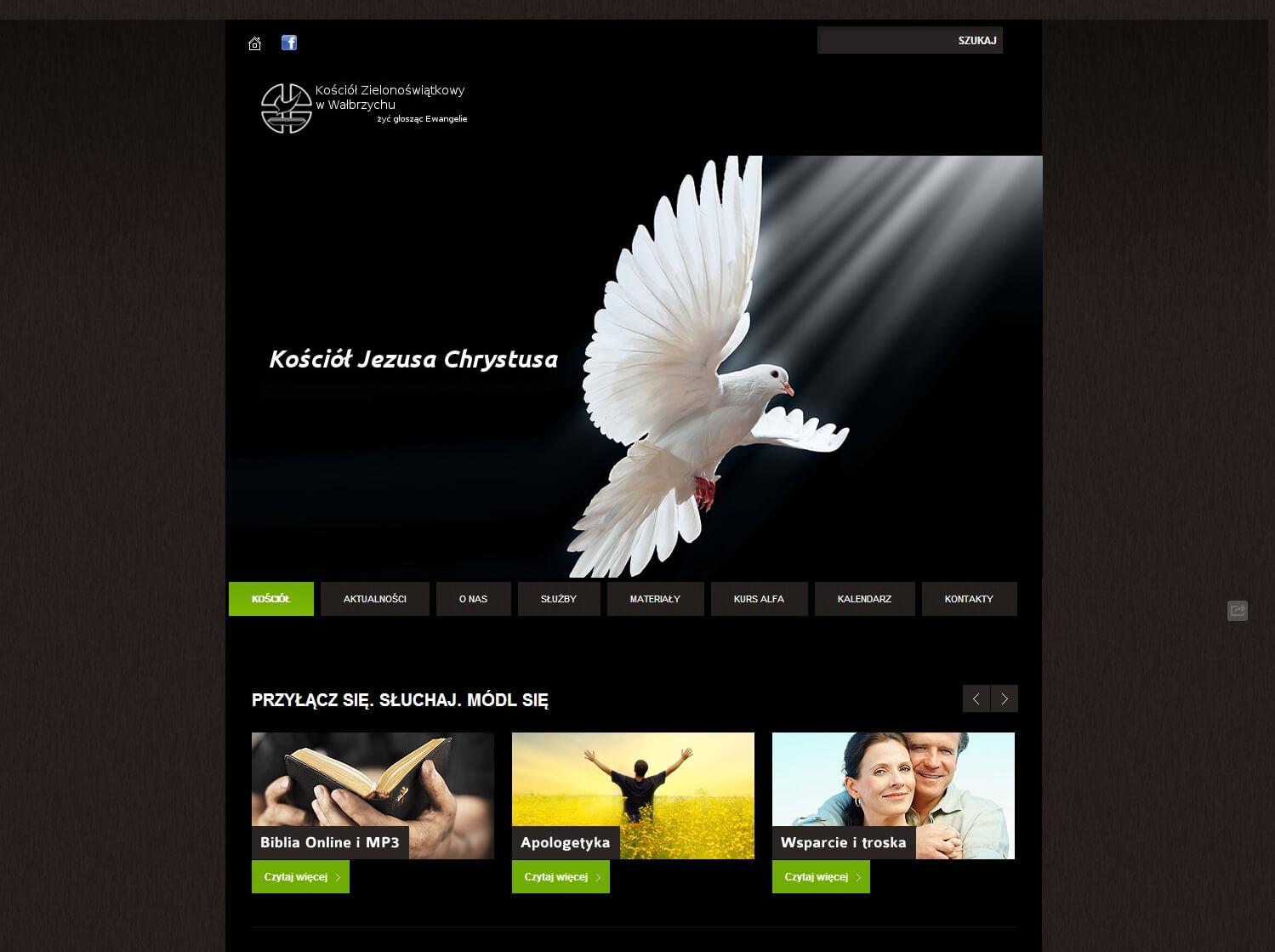 2012-11 – Homepage for the Church – kz-walbrzych.pl