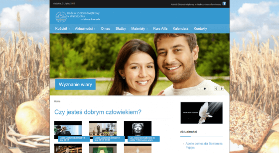 2013-04 – Homepage for the Church – kz-walbrzych.pl