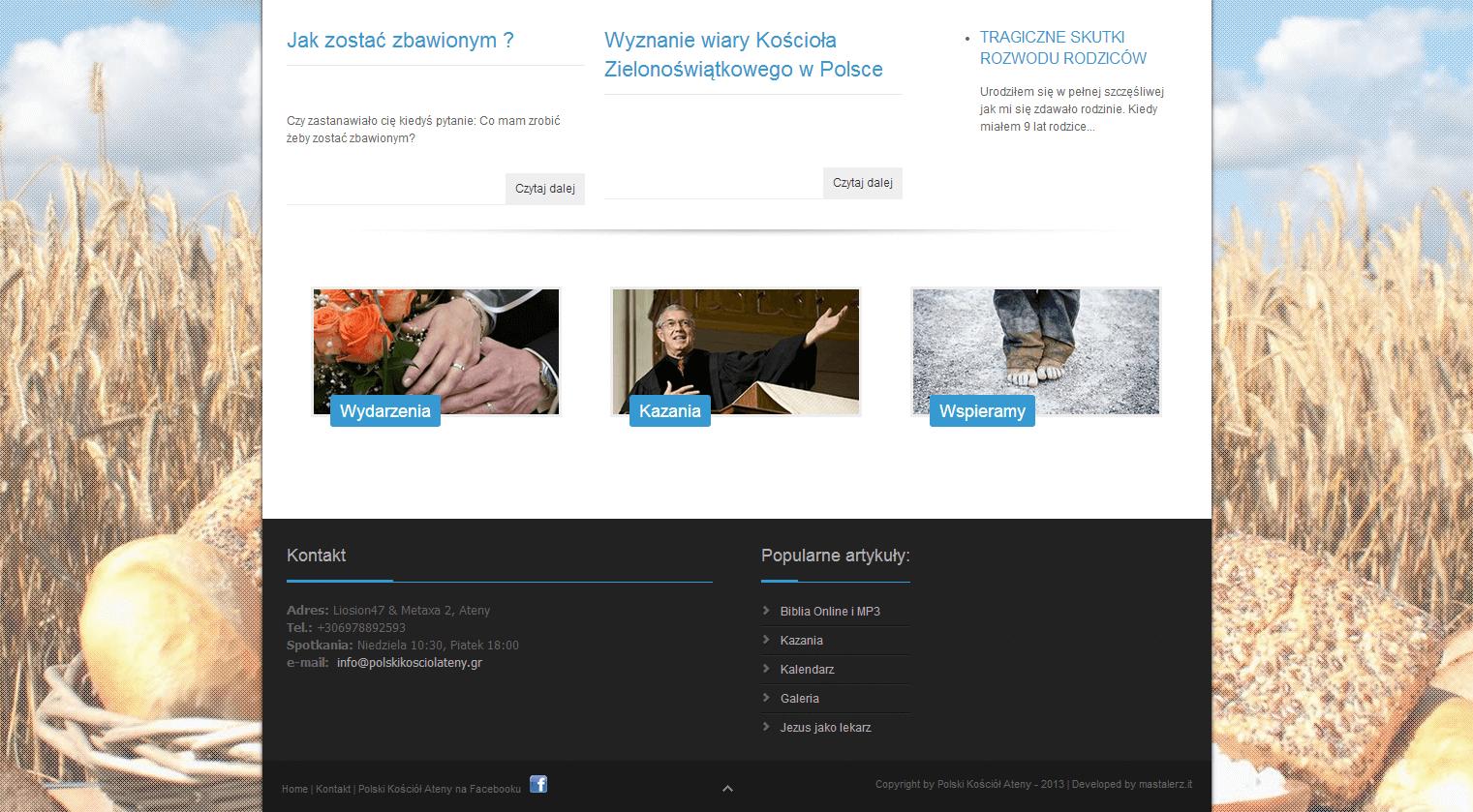 2013-05 – Homepage for the Church – polskikosciolateny.gr