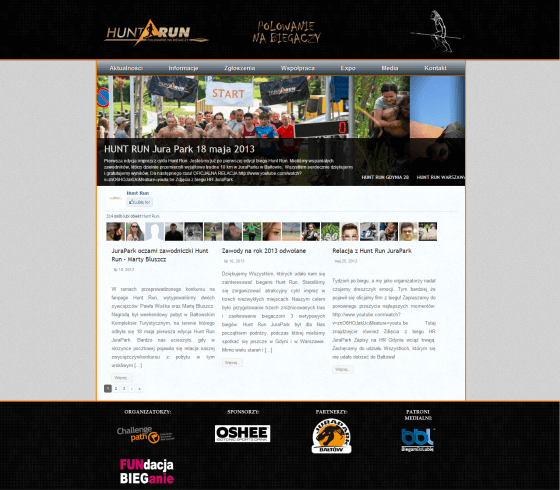 2013-07 Homepage for a run event – dirthunter.pl