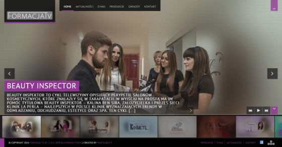 2014-10 Homepage for TV producer – formacja.tv
