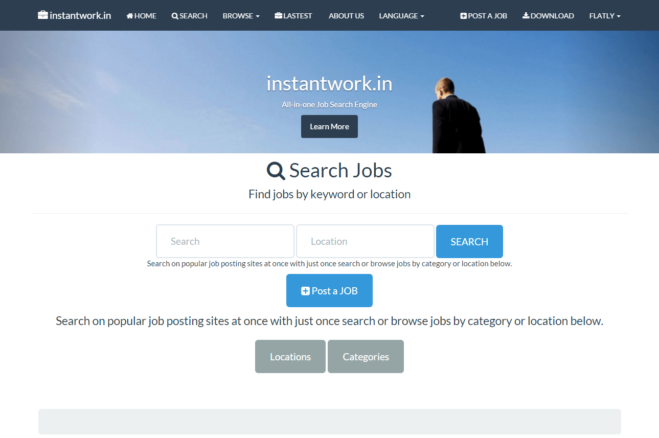 2014-10 Jobs portal – instantwork.in