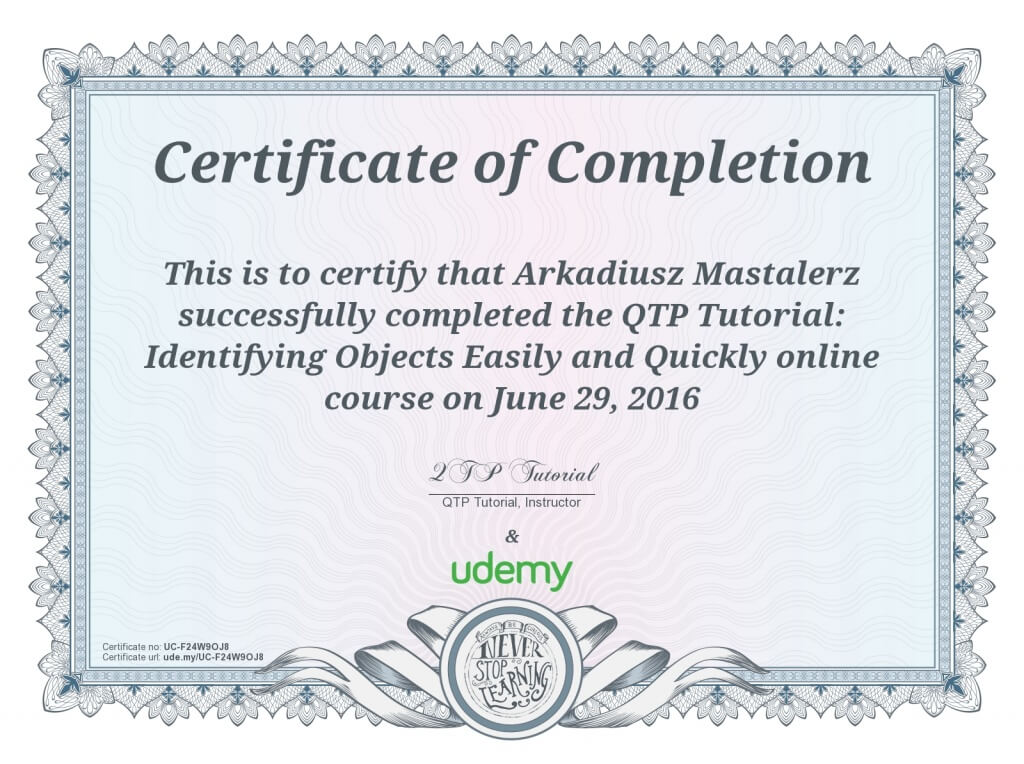 Certifications Mastalerz
